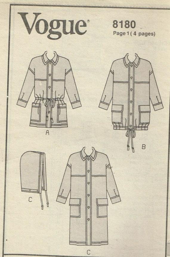 Size L-XL Men\'s Jacket Sewing Pattern Loose Fit Jacket | Etsy