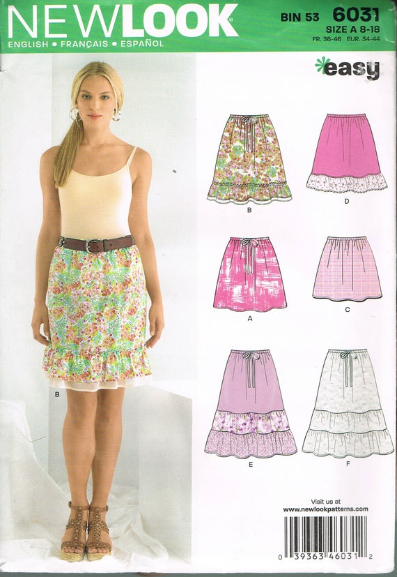 Size 8 18 Misses Easy Short Skirt Sewing Pattern Pull On Etsy
