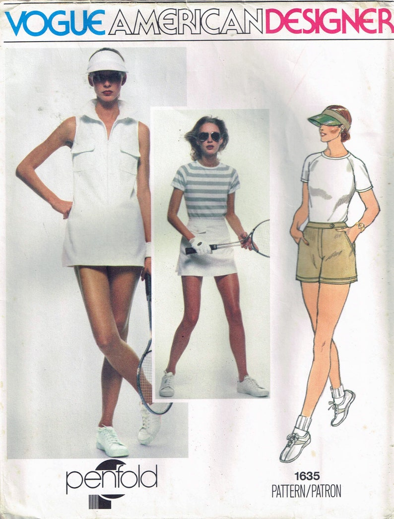 differently 5e8e0 40993 Taglia Tennis Vintage vestito cucito Pattern - Abito senza maniche da  Tennis - Tennis gonna cartamodello - Shorts - Penfold Vogue 10 manca 1635