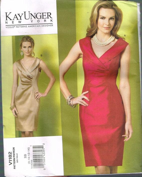 Size 8 14 Misses Formal Dress Pattern V Neck Sheath Dress Etsy