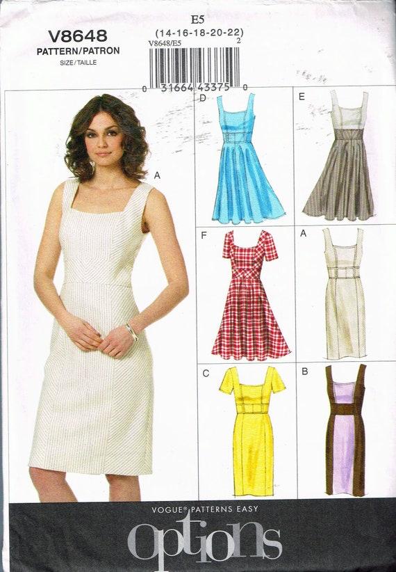 Größe 14-20 Misses einfach Plus Größe Kleid Schnittmuster | Etsy