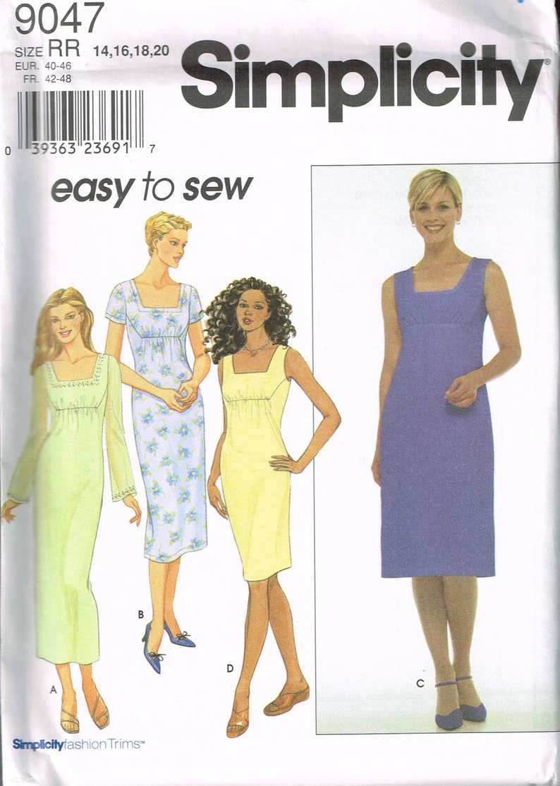 Size 14-20 Misses\' Easy Plus Size Dress Sewing Pattern | Etsy