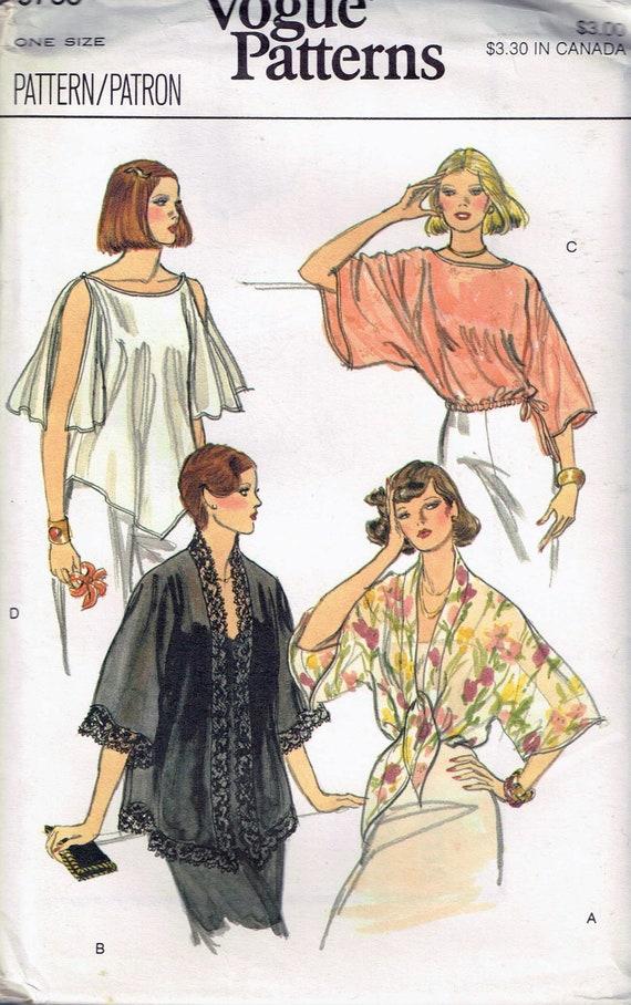 Misses\' Vintage Boho Poncho Top Sewing Pattern Loose Fit