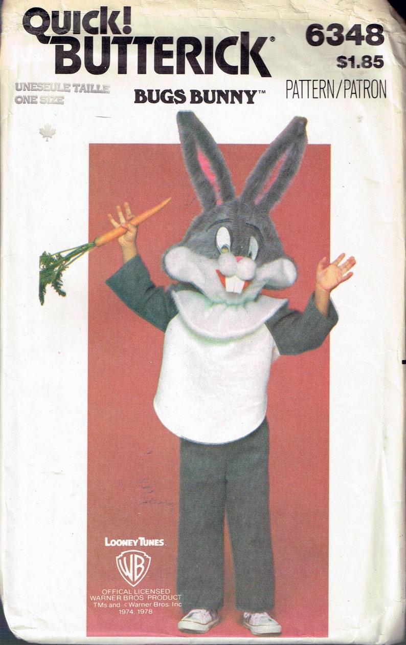 Size 2 12 Child Bugs Bunny Rabbit Costume Sewing Pattern   Jumpsuit  Halloween Costume   Butterick 6348