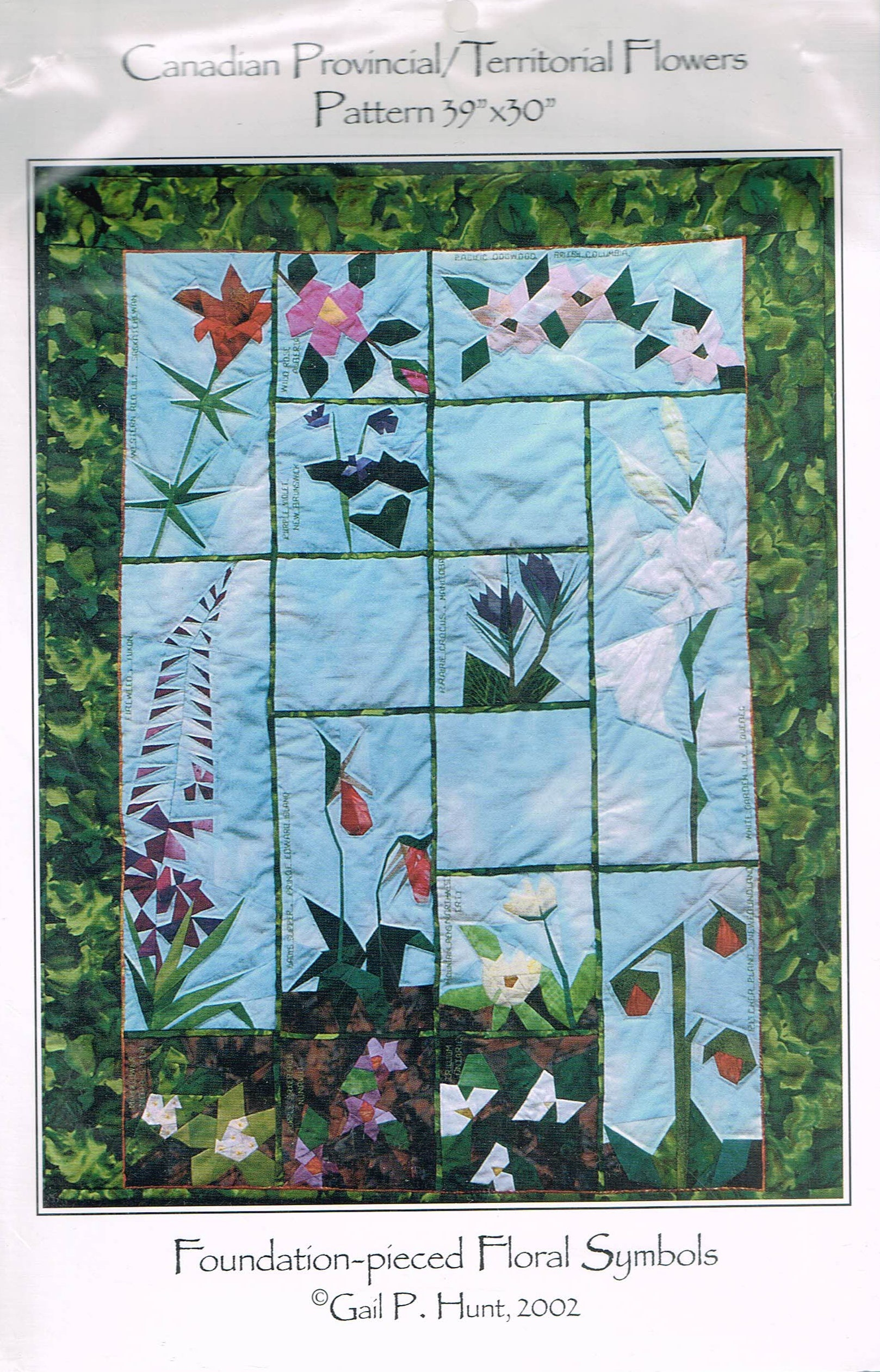 Canadian Provincial Flowers Wall Hanging Quilt Pattern Etsy