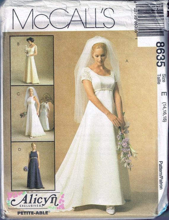 Größe 14-18 Misses Hochzeit Kleid Schnittmuster | Etsy