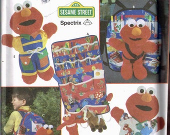 Craft Sewing Pattern - Tickle Me Elmo Accessories - Backpack Sewing Pattern - Tickle Me Elmo Clothes - Sesame Street - Simplicity 8139