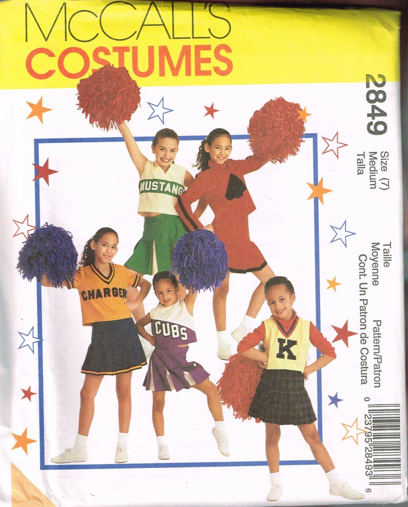 b65229aa0 Size 7 Girls Cheerleader Costume Cheerleader Skirt Pattern