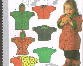 Size 3M-18M Easy Baby Jacket Sewing Pattern - 3/4 Length Baby Jacket - Baby Jacket With Hood - Sewing For Babies - Burda 5317