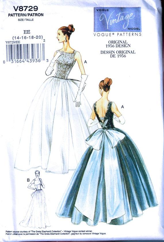 Size 14 20 Misses Plus Size Vintage Formal Dress Sewing Etsy