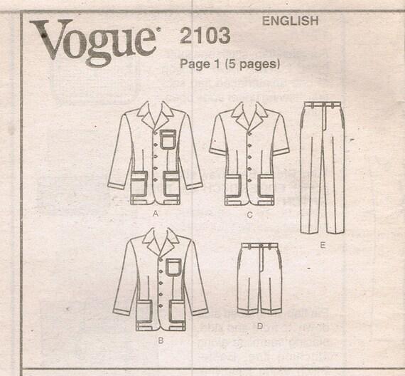 Größe 32-36 Herren Nähen Muster Herren Jacke Hose oder