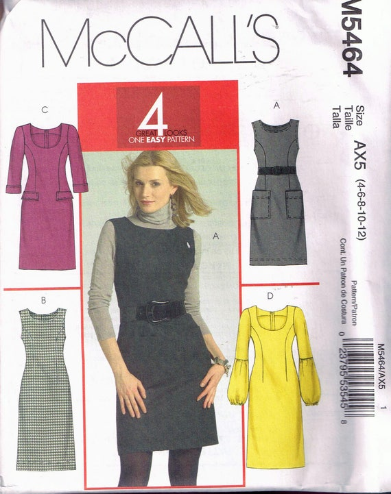 Size 6060 Misses' Easy Dress Sewing Pattern Scoop Neck Etsy Custom Easy Dress Sewing Patterns