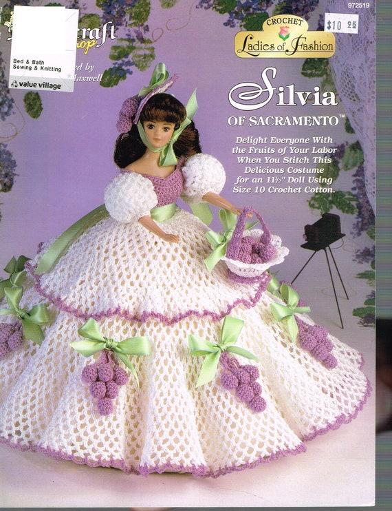Doll Crochet Pattern Southern Belle Dress Pattern Barbie Etsy