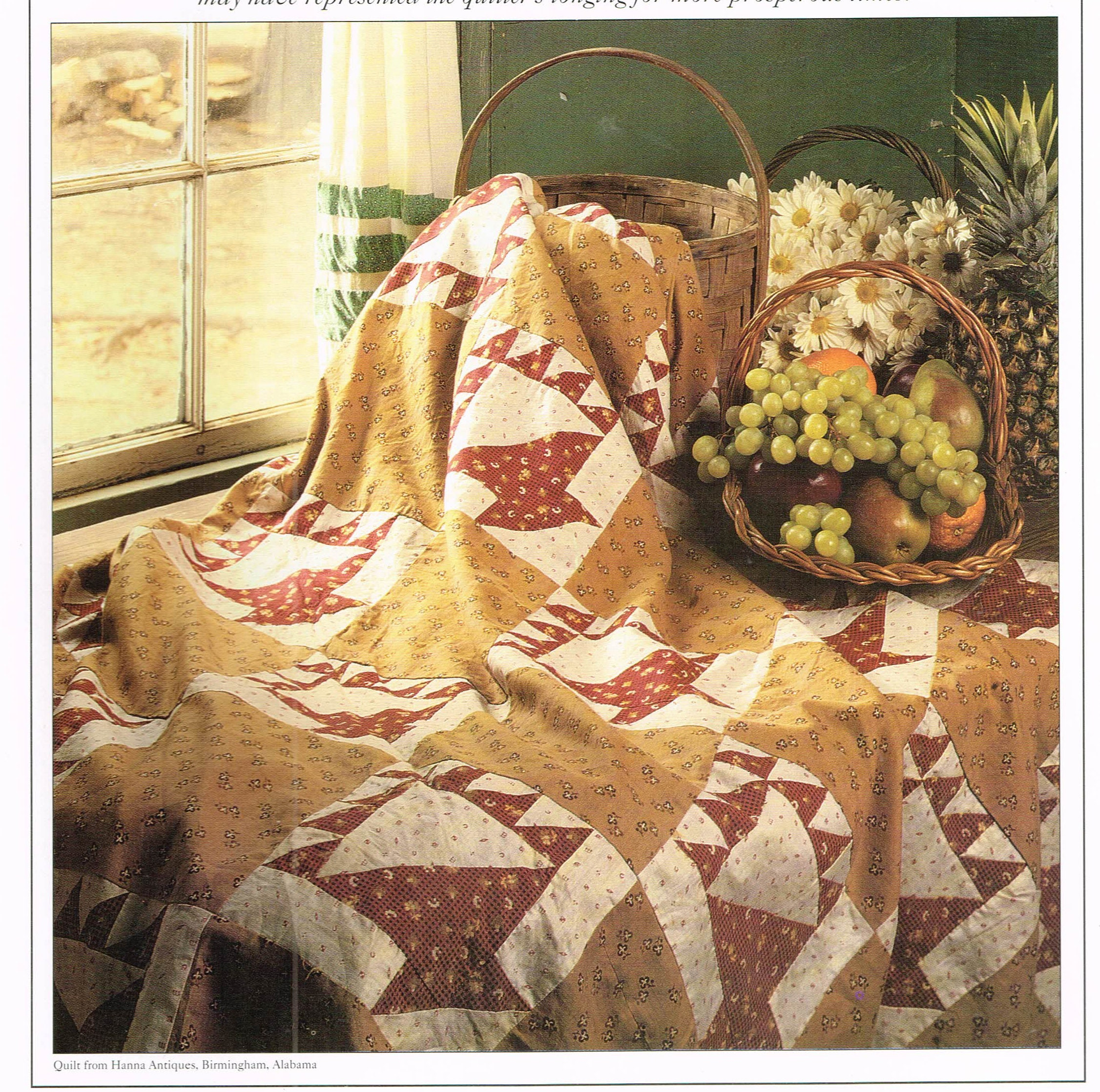 Quilt Pattern Plastic Template Fruit Basket Quilt Sewing Etsy