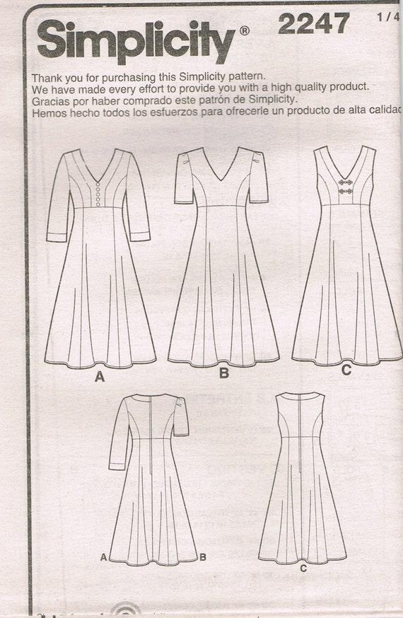 Größe 10-18 verfehlt Kleid Schnittmuster | Etsy