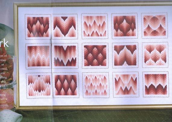 Bargello Embroidery Sampler Pattern Florentine Needlework Etsy