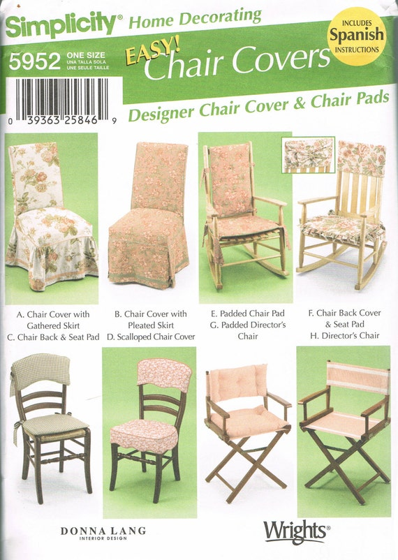 Chair Cover Sewing Pattern Chair Pad Directors Chair | Etsy
