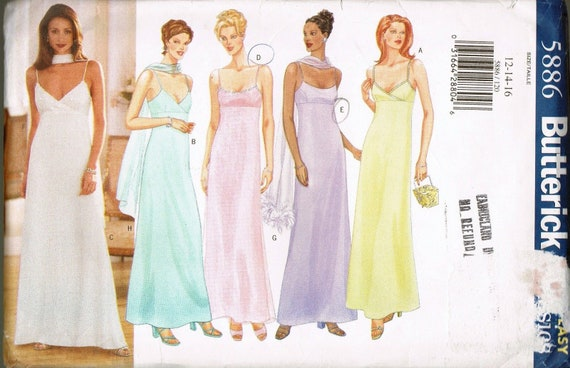 Größe 12-16 verfehlt formale Kleid Schnittmuster | Etsy