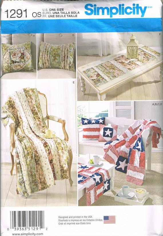 Rag Quilt Sewing Pattern Stars Rag Throw Blanket Pattern | Etsy