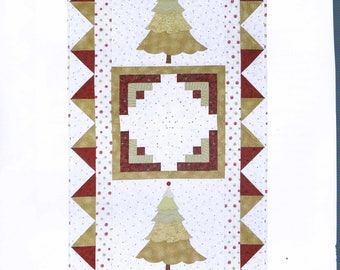 Christmas Tree Wall Hanging Quilt Sewing Pattern - Christmas Quilt Pattern - Rotary Cut Quilt -