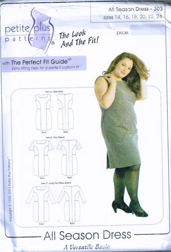 Size 14-24 Misses\' Petite Plus Size Dress Sewing Pattern