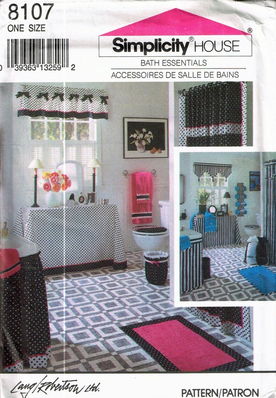 Shower Curtain Sewing Pattern Bathroom Curtan Sewing Pattern Etsy