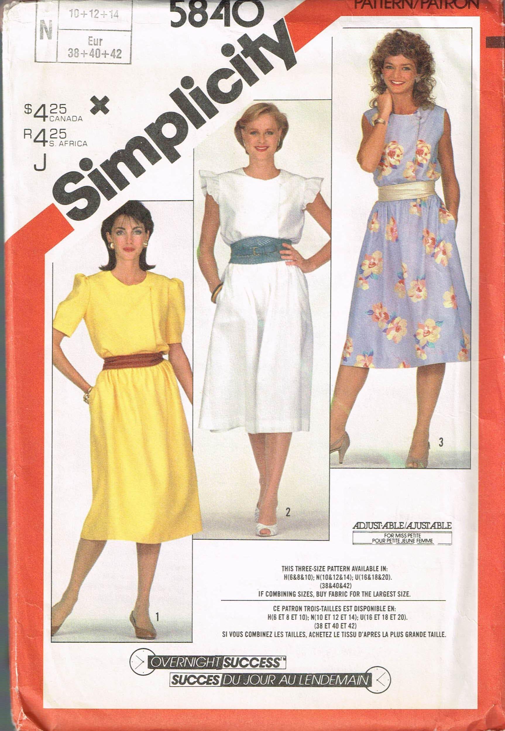 Size 10-14 Misses  Vintage Dress Sewing Pattern Short  d3d8c76acd9
