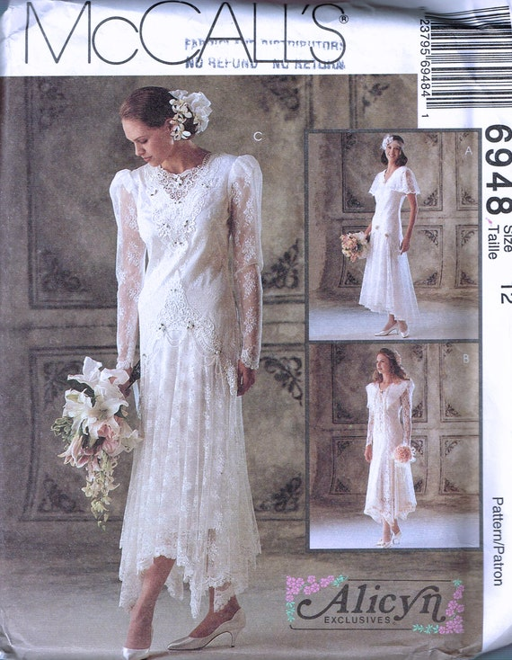 Size 12 Wedding Dress Sewing Pattern Drop Waist Flapper Etsy