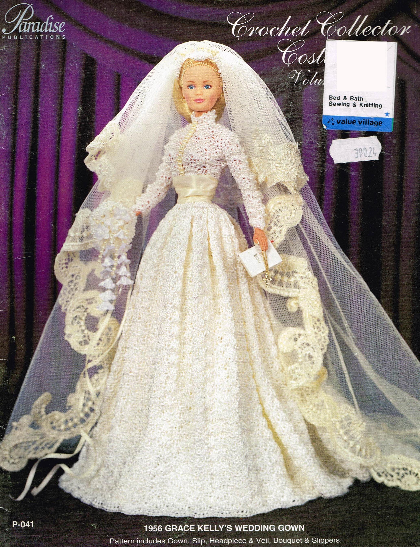 Doll Crochet Pattern Doll Wedding Dress Crochet Pattern | Etsy