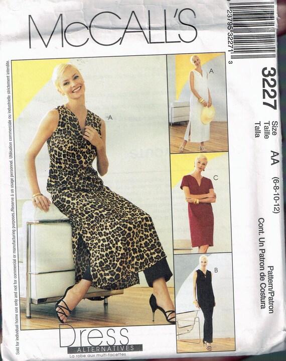5ece0d868f1 Size 6-12 Misses  Dress   Pants Sewing Pattern V Neck