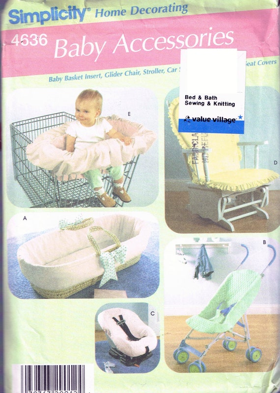Astounding Glider Rocking Chair Cushion Or Car Seat Cushion Craft Sewing Pattern Simplicity 4636 Spiritservingveterans Wood Chair Design Ideas Spiritservingveteransorg