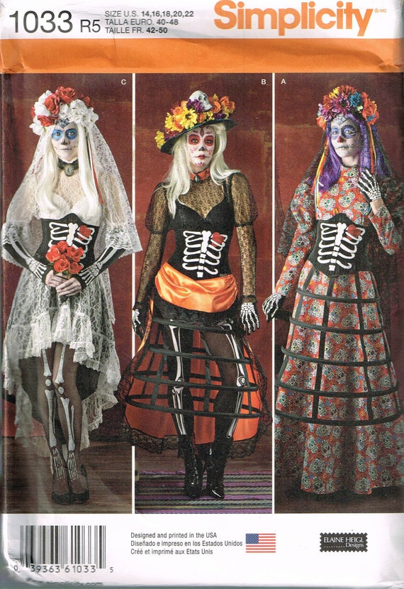 Größe 14-22 Misses Plus Größe-Halloween-Kostüm Unterbrust | Etsy