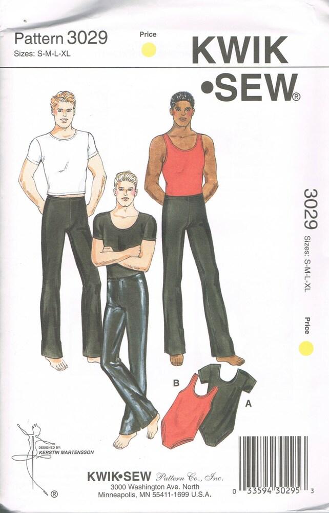 Size S Xl Mens Dancewear Sewing Pattern Unitard Pattern Etsy
