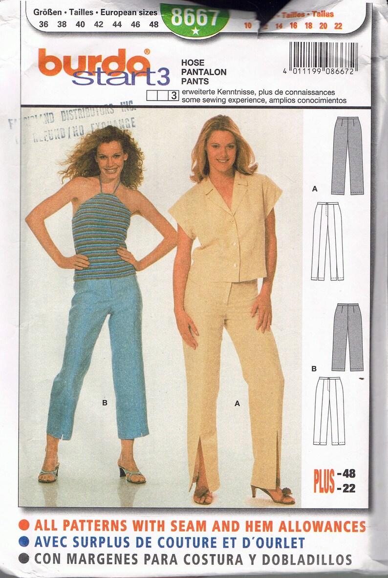 3561c818811 Size 10-22 Misses  Pants Sewing Pattern Misses Straight Leg Pants