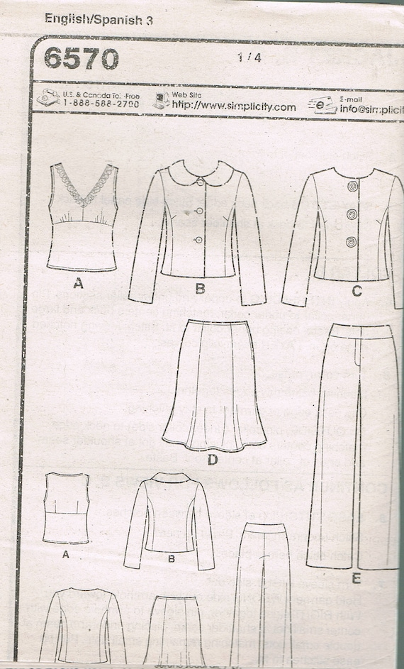 Size 10-22 Misses\' Jacket & Pants Sewing Pattern Round | Etsy