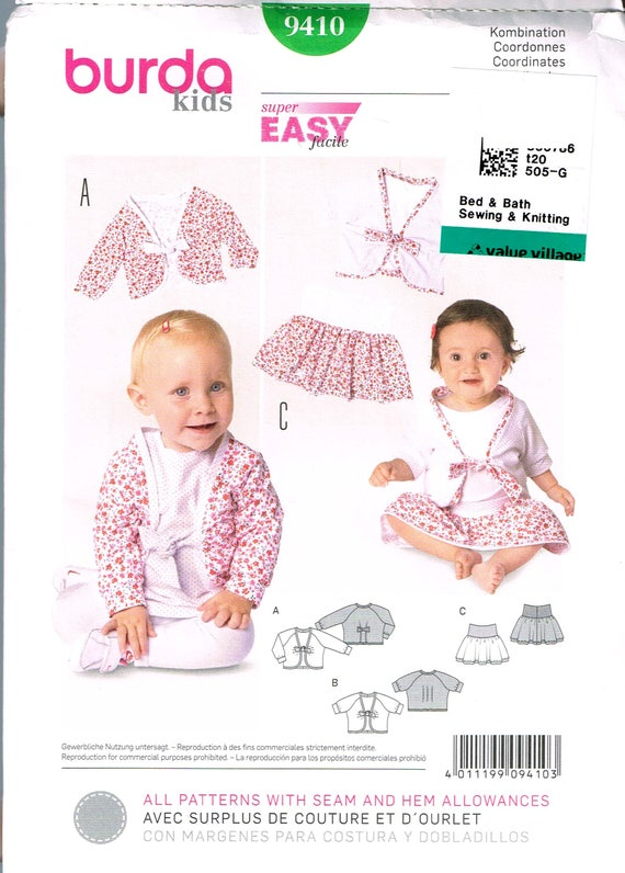 Size Size 6m 3 Easy Baby Girl Sewing Pattern Baby Skirt Etsy