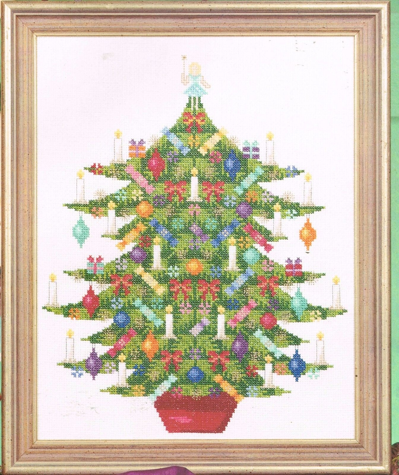 Old Fashioned Christmas Tree Cross Stitch Pattern Tree With   Etsy