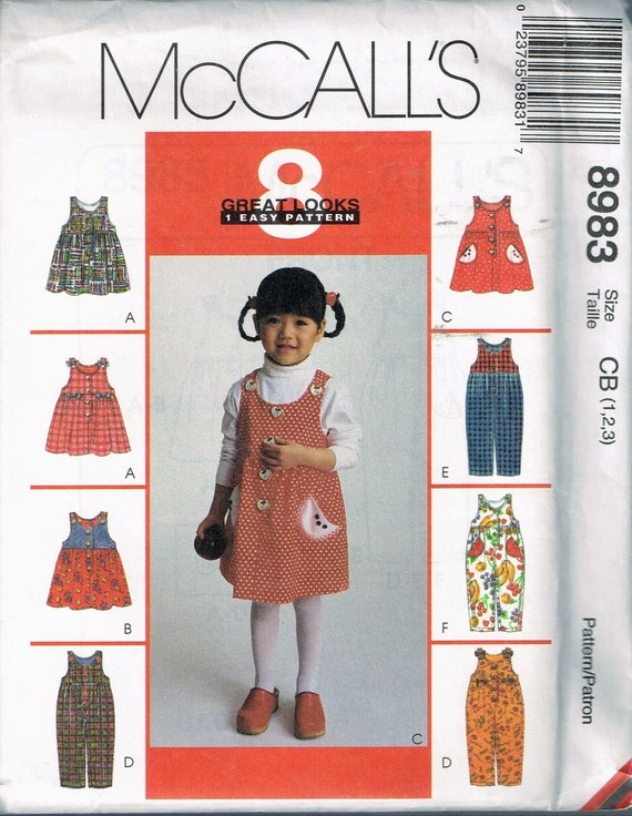 Size 6060 Toddler Girls' Easy Dress Sewing Pattern Etsy Magnificent Easy Dress Sewing Patterns