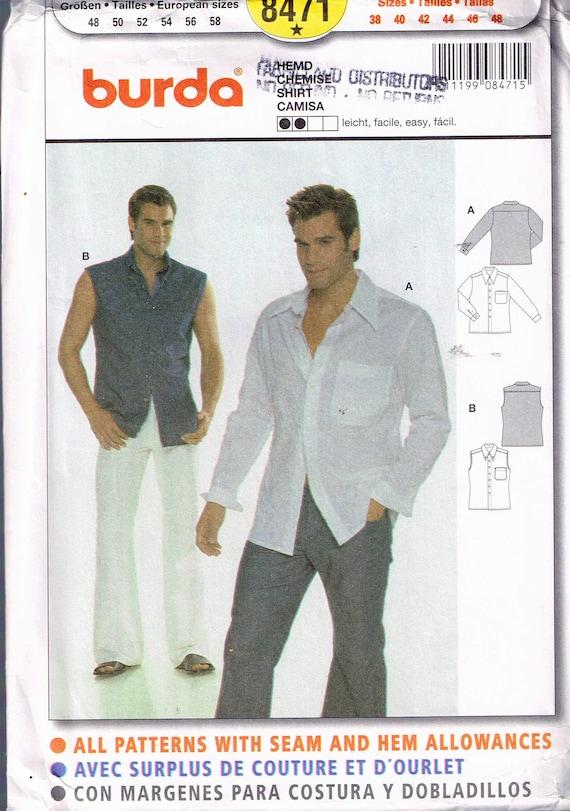 Size 38-48 Men\'s Easy Shirt Sewing Pattern Men\'s | Etsy