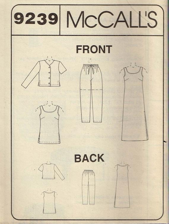 New McCall Pattern 8739 Dress Tunic Tank Top Shirt Pull-On Pants Shorts SZ 10-14