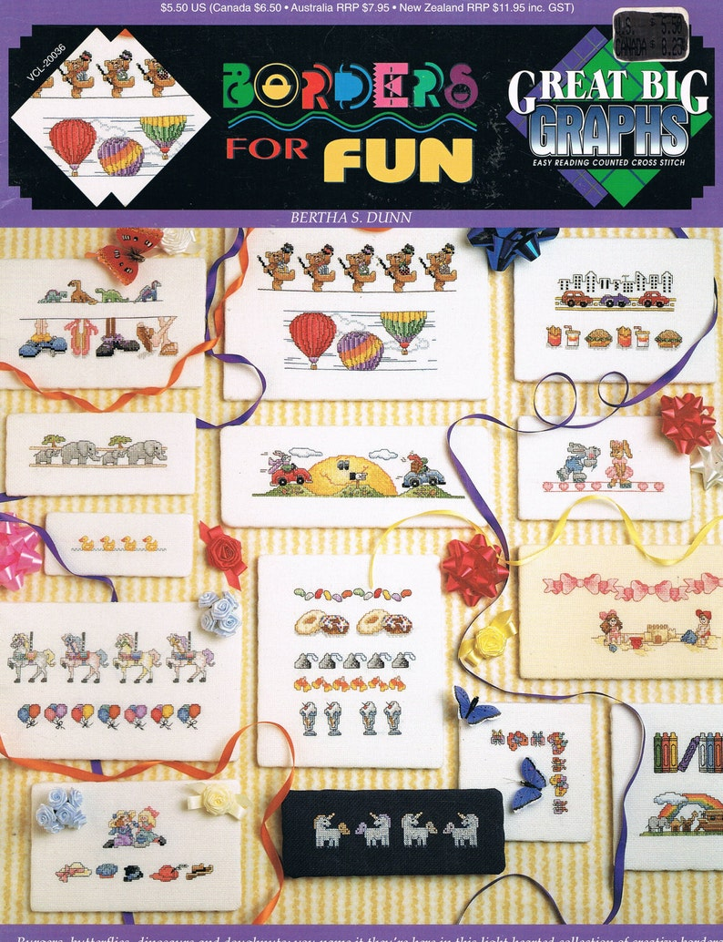 Old Time Toys Counted Cross Stitch Pattern From A Magazine MN3