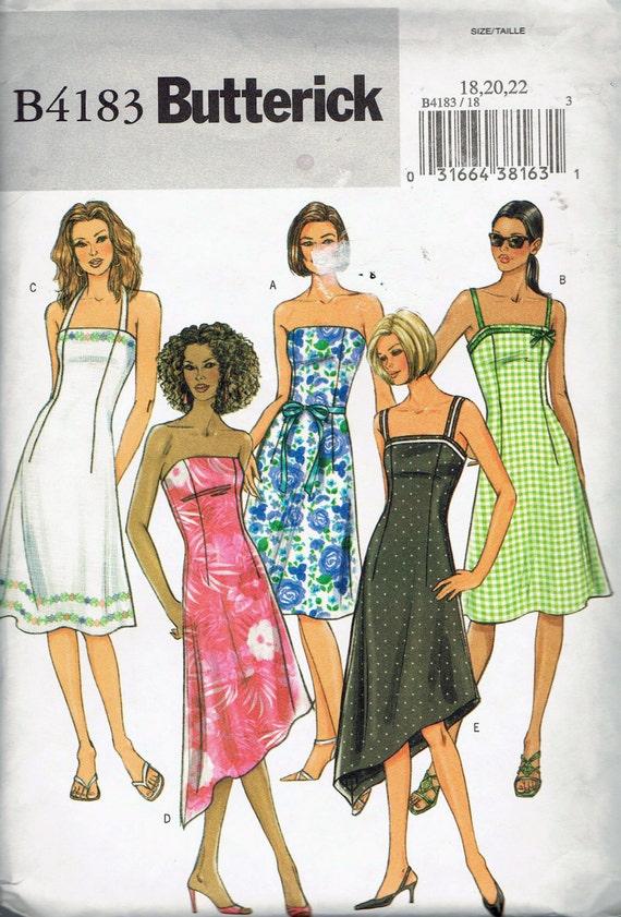 Size 18 22 Misses Plus Size Dress Pattern A Line Dress Etsy