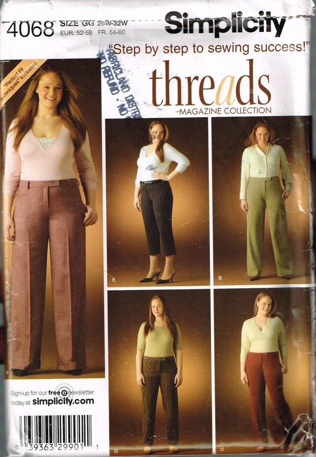 Size 26 32 Misses Plus Size Pants Sewing Pattern Boot Cut Etsy