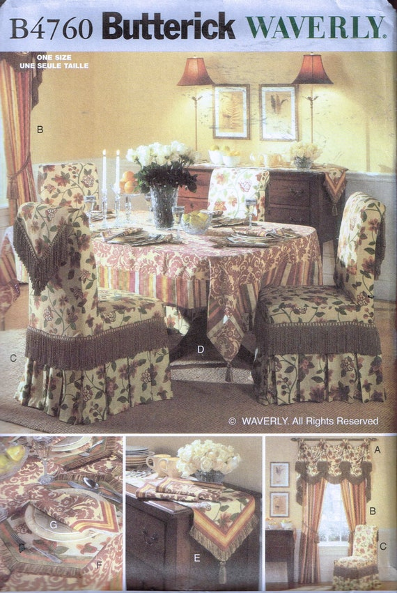 Tremendous Chair Cover Dining Room Accessories Sewing Pattern Home Decor Pattern Butterick B4760 Alphanode Cool Chair Designs And Ideas Alphanodeonline