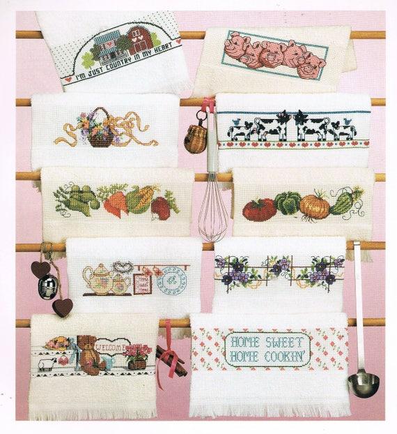 CROSS STITCH PATTERN   Vegetables Cross Stitch Towels   Kitchen Towels    Cow Towels Cross Stitch   Pig Towels Cross Stitch   Towel Border