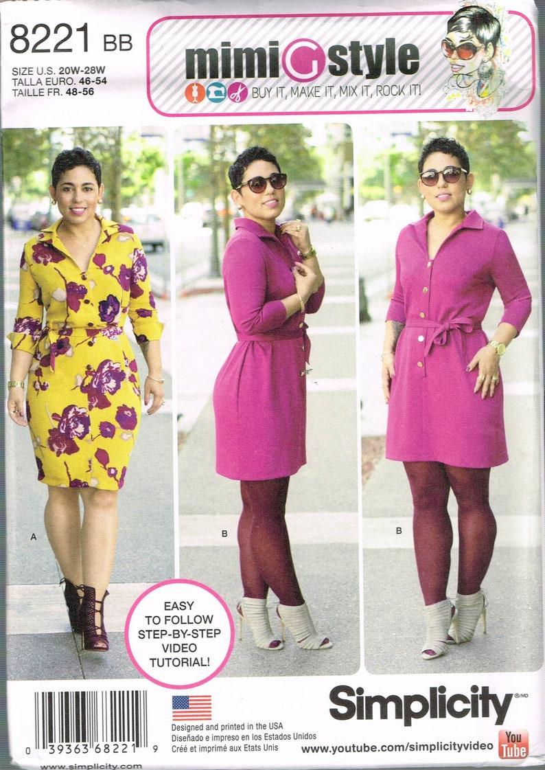 Size 20-28 Misses\' Plus Size Dress Sewing Pattern V Neck | Etsy