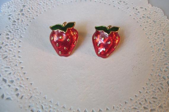 Strawberry earrings - Strawberry jewelry - fruit j