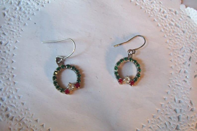Christmas Earrings 86 Christmas Wreath Earrings Etsy