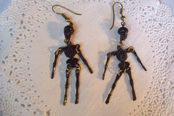 Halloween earrings - Skeleton earrings - Halloween