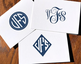 Traditional Monogrammed Stationery Set or Monogrammed Note Pad